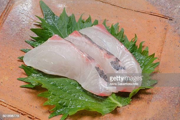 sashimi - jack fish stock pictures, royalty-free photos & images