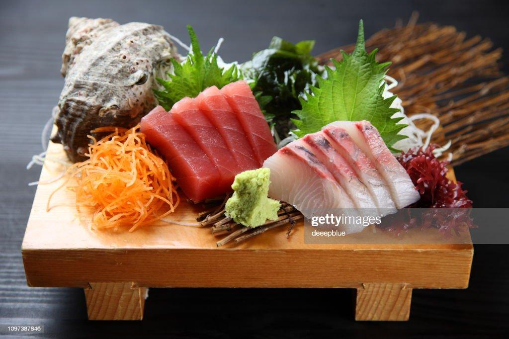 sashimi plate : Stock Photo