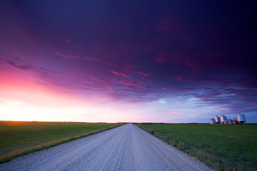 Saskatchewan Grain Storage Bins 578830824