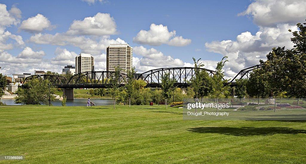 Saskatoon Dowtown Park in Summer : Stock Photo