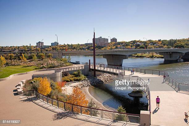 Saskatoon River Landing in Autumn