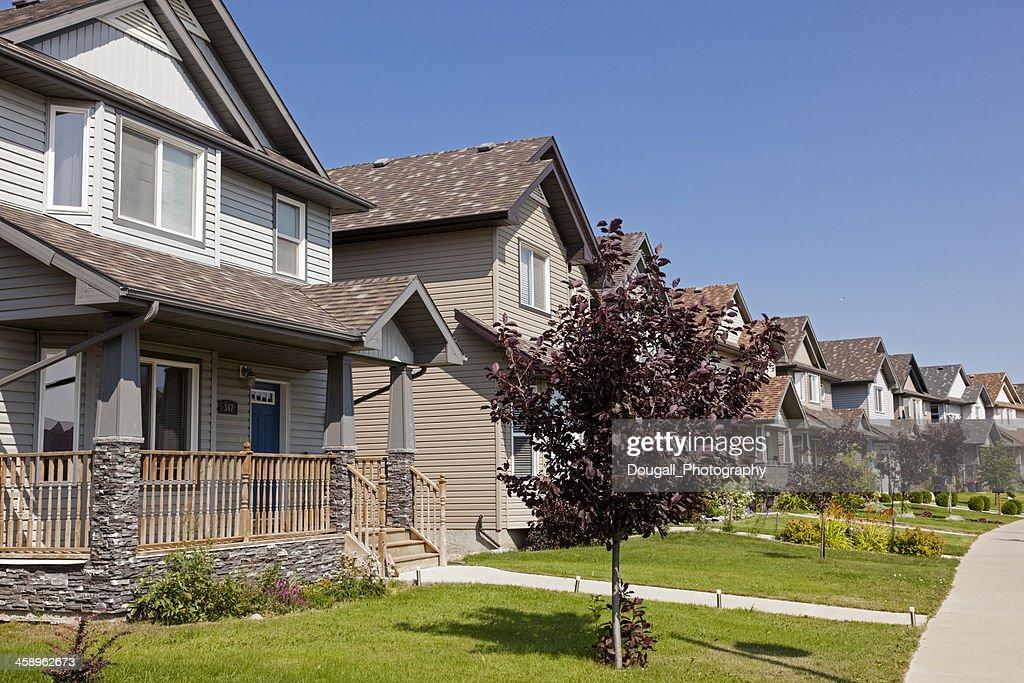 Saskatoon Single Family Houses in New Neighbourhood : Stock Photo