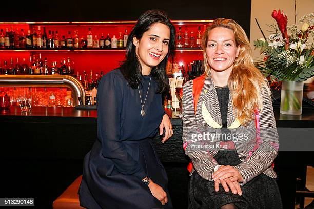 Saskia Axt and Anja Groeschel during Triumph Inspires Edition 2 Hosted By Laura Chaplin on March 02 2016 in Hamburg Germany