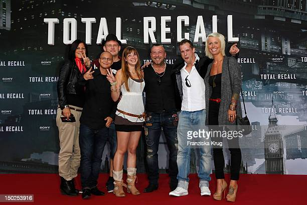 Saskia Beecks Daniel Krause Ole Peters Anne Wuensche Fernando Jose della Vega Martin W and Pia Tillmann attend the German premiere of 'Total Recall'...