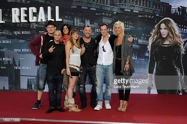 Saskia Beecks Daniel Krause Ole Peters Anne Wuensche Fernando Jose della Vega Martin W and Pia Tillmann attends the 'Total Recall' Germany Premiere...