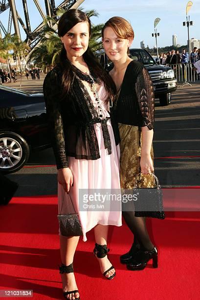 Saskia Burmeister and Rebecca Croft during 2004 Lexus IF Awards at Luna Park in Sydney, Australia.