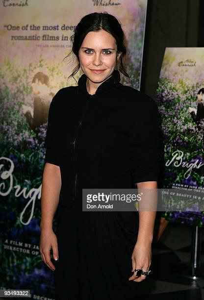 Saskia Burmeister arrives for the Australian Premiere of 'Bright Star' at Dendy Opera Quays on November 30, 2009 in Sydney, Australia.