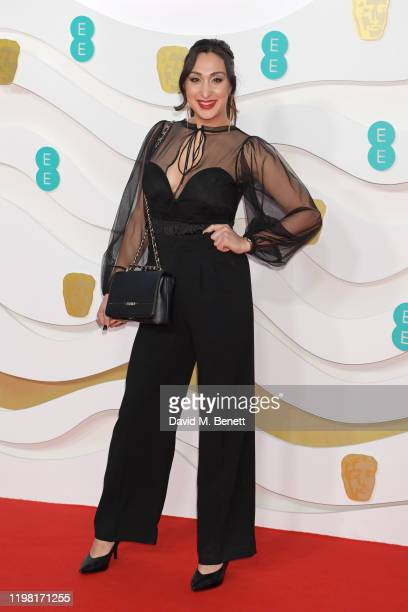 Saskia Chana arrives at the EE British Academy Film Awards 2020 at Royal Albert Hall on February 2 2020 in London England
