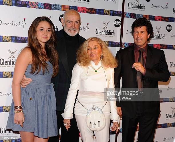 Saskia Connery Sean Connery Micheline Connery and Stephane Connery attend the 8th annual 'Dressed To Kilt' Charity Fashion Show presented by...