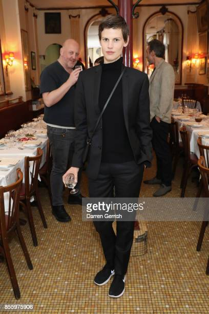 Saskia De Brauw attends a dinner in Paris to celebrate Another Magazine A/W17 hosted by Vivienne Westwood Andreas Kronthaler Jefferson Hack Susannah...