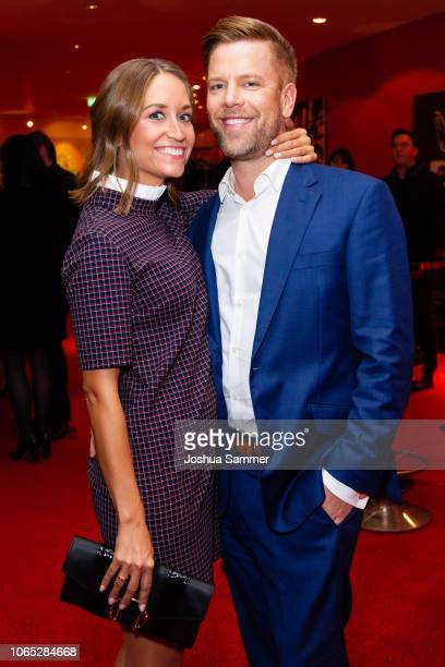 Saskia Gaebel and Tom Gaebel attend the premiere of the musical 'Bat Out of Hell' at Stage Metronom Theater on November 8 2018 in Oberhausen Germany