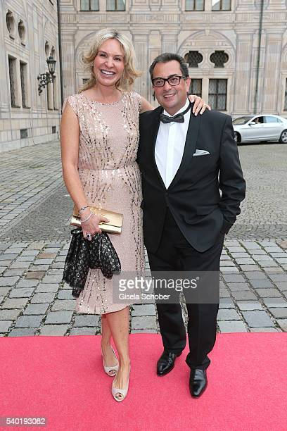Saskia Greipl and her husband Stavros Kostantinidis during a charity dinner hosted by AMADE Deutschland and Roland Berger Foundation at Kaisersaal...