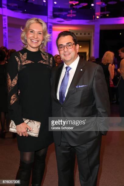 Saskia Greipl and her husband Stavros Kostantinidis during the PIN Party 'Let's party 4 art' at Pinakothek der Moderne on November 18 2017 in Munich...