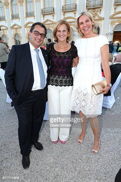 Saskia Greipl and her husband Stavros Kostantinidis Karin Seehofer during the Summer Reception of the Bavarian State Parliament at Schleissheim...
