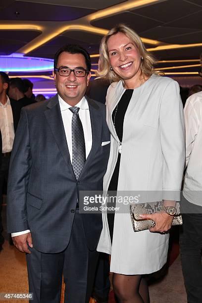 Saskia Greipl and husband Stavros Kostantinidis attend the Monti Memorial Charity Gala at Hotel Vier Jahreszeiten on October 18 2014 in Munich Germany