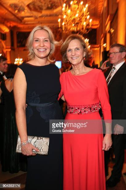 Saskia Greipl and Karin Seehofer during the new year reception of the Bavarian state government at Residenz on January 12 2018 in Munich Germany