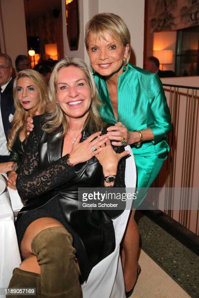 Saskia GreiplKostantinidis and Uschi Glas during the annual christmas roast kid dinner at Reitschule on December 16 2019 in Munich Germany