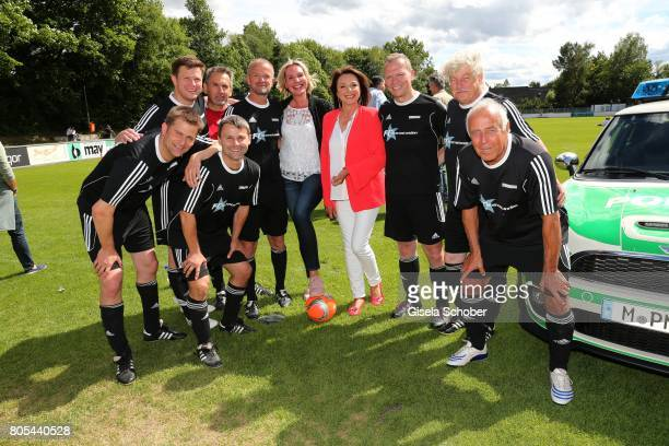 Saskia GreiplKostantinidisUschi Daemmrich von Luttitz and players 'Sternstunden' team during the Erich Greipl Tribute tournament and charity soccer...