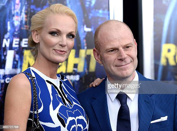 Saskia Holkenborg and Composer Tom Holkenborg attend the Run All Night New York Premiere at AMC Lincoln Square Theater on March 9 2015 in New York...