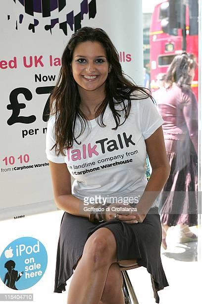 Saskia Howard Clarke during TALK TALK Photocall with Saskia Howard Clarke from Big Brother 6 at Carphone Warehouse in London Great Britain