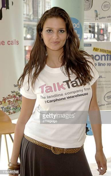 Saskia HowardClarke during TALK TALK Photocall with Saskia Howard Clarke from Big Brother UK 6 at Carphone Warehouse in London Great Britain