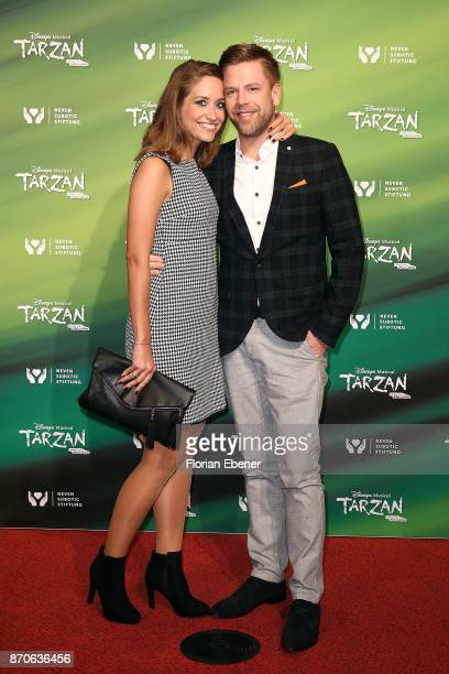 Saskia Runge and Tom Gaebel attend the anniversary celebration of the musical 'Tarzan at Stage Metronom Theater on November 5 2017 in Oberhausen...