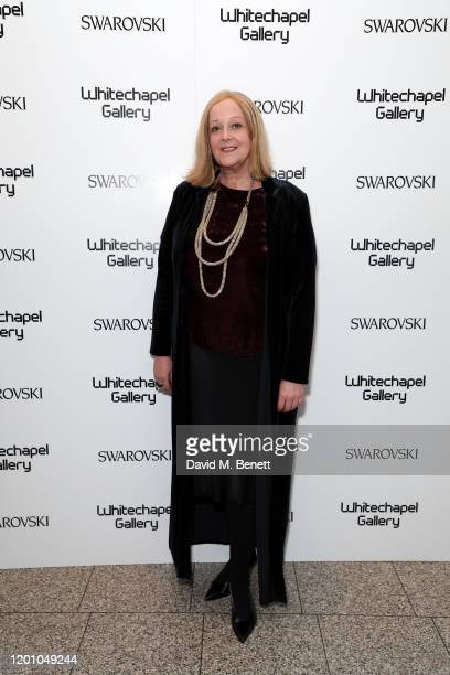 Saskia Sissons attends a glamorous gala dinner as Francis Alys is celebrated as Whitechapel Gallery Art Icon with Swarovski on January 21 2020 in...