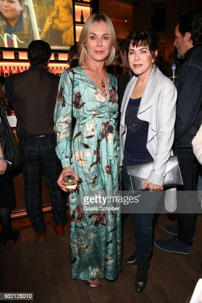 Saskia Valencia and Anja Kruse during the NdF after work press cocktail at Parkcafe on March 14 2018 in Munich Germany