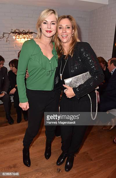 MUNICH GERMANY DECEMBER Saskia Valencia and Carin C Tietze during the CONNECTIONS PR XMAS Cocktail at Kaefer Atelier on December 8 2016 in Munich...