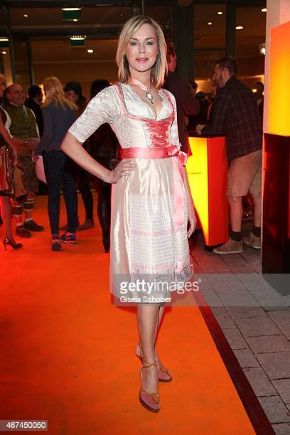 Saskia Valencia during the SIXT fashion dinner at Nockherberg on March 24 2015 in Munich Germany