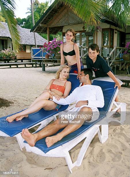 Saskia Valencia Ehemann Nicolas Tochter Alexandra Sohn Leonard Koh Samui/Thailand Urlaub Strand Meer See