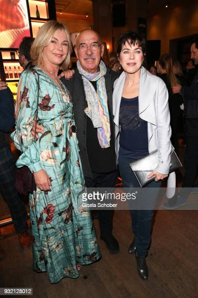 Saskia Valencia Otto Retzer and Anja Kruse during the NdF after work press cocktail at Parkcafe on March 14 2018 in Munich Germany