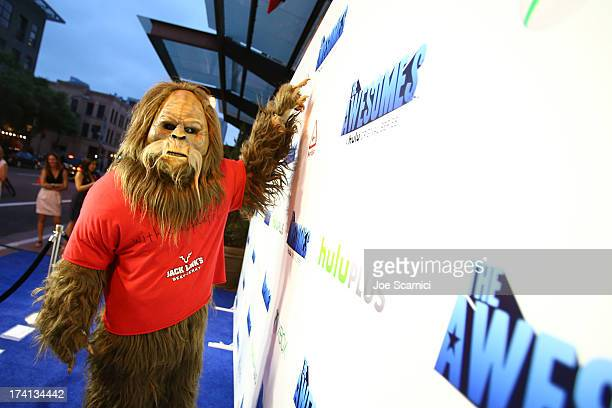 Sasquatch arrives at The Awesomes VIP AfterParty sponsored by Hulu and Xbox at Andaz on July 20 2013 in San Diego California