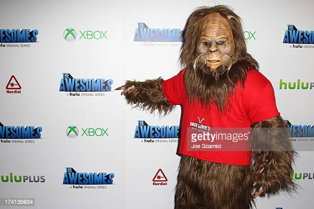 Sasquatch attends 'The Awesomes' VIP AfterParty sponsored by Hulu and Xbox at Andaz on July 20 2013 in San Diego California