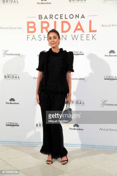 Sassa de Osma poses in a photocall during the Angel Aguilar show Bridal Night Angel Aguilar during Barcelona Bridal Fashion Week 2017 at Palau de...