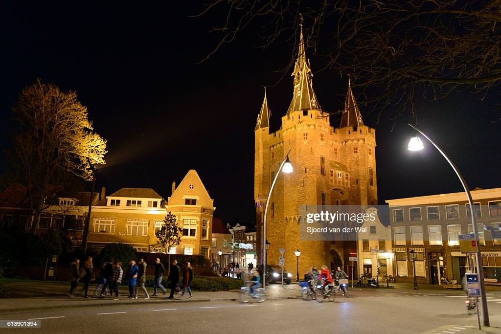 Sassenpoort in zwolle at night stock photo getty images sassenpoort in zwolle at night stock photo ccuart Images