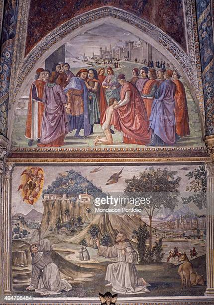 Sassetti Chapel by Domenico Ghirlandaio 14821486 15th Century fresco Italy Tuscany Florence Church of Santa Trinita Sassetti Chapel Whole artwork...