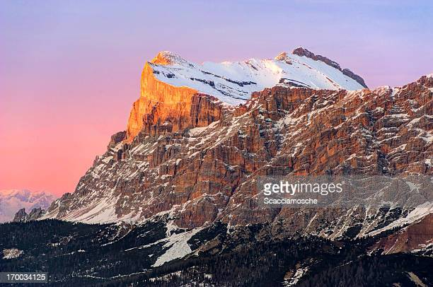 sasso della croce (sass dla crusc), dolomites - alta badia stock pictures, royalty-free photos & images