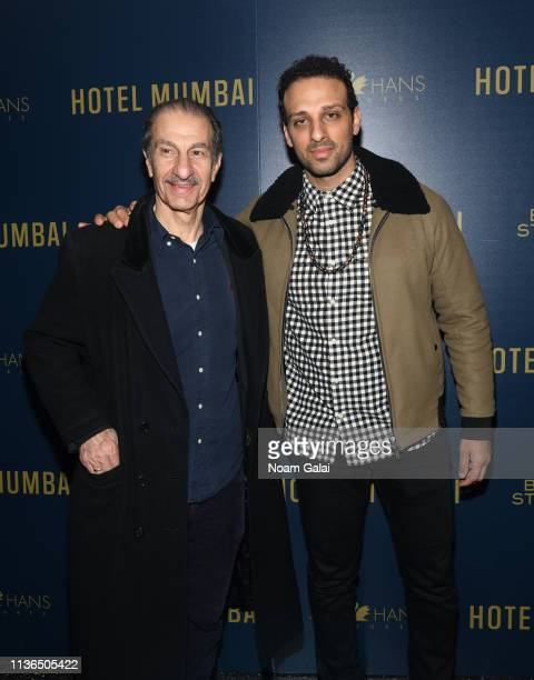 Sasson Gabai and Ari'el Stachel attend the 'Hotel Mumbai' New York Screening at Museum of Modern Art on March 17 2019 in New York City