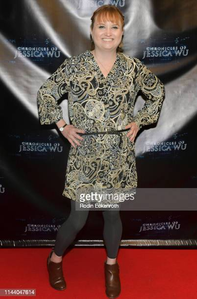Sassy Mohen attends the Chronicles of Jessica Wu Season 2 premiere at SAGAFTRA Foundation Screening Room on April 20 2019 in Los Angeles California