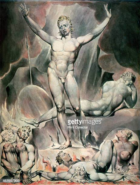 'Satan Arousing the Rebel Angels', 1808. Inspired by Milton's Paradise Lost. From the Victoria and Albert Museum, London.