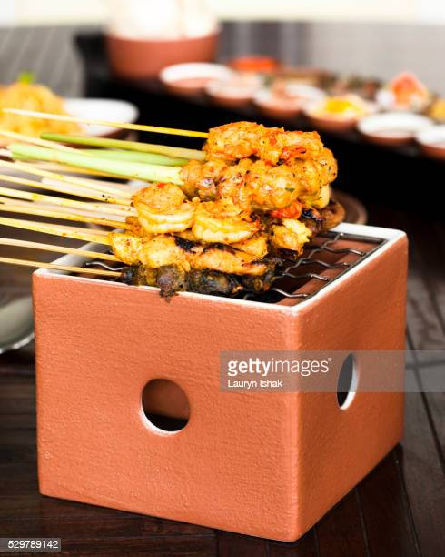 satay - lauryn ishak stock pictures, royalty-free photos & images
