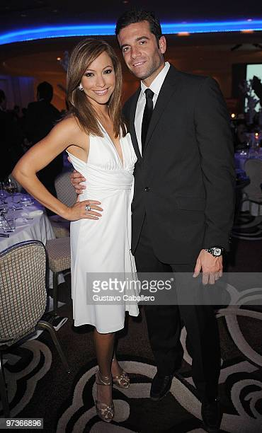 Satcha Pretto and Aaron Butler attends the 15th Annual Blacks' Charity Gala at Fontainebleau Miami Beach on February 27, 2010 in Miami Beach, Florida.