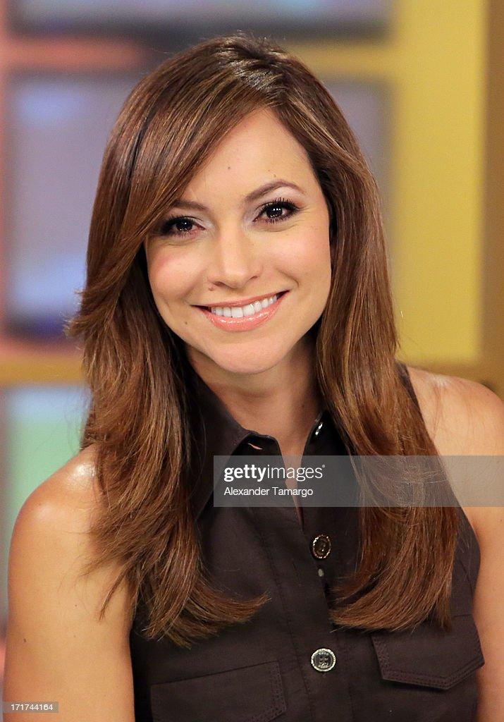 Satcha Pretto appears on Univision's 'Despierta America' morning show at Univision Headquarters on June 28, 2013 in Miami, Florida.
