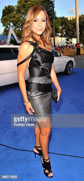 Satcha Pretto arrives on the red carpet at the Univision's 2009 Premios Juventud Awards at Bank United Center on July 16 2009 in Coral Gables Florida