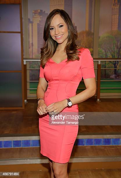 Satcha Pretto is seen on the set of Despierta America at Univision Headquarters on October 7 2014 in Miami Florida