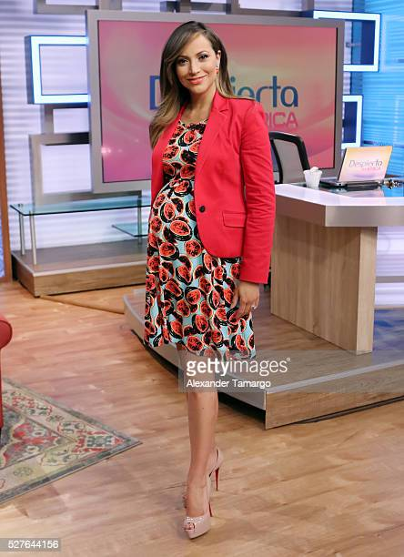 Satcha Pretto is seen on the set of 'Despierta America' at Univision Studios on May 3 2016 in Miami Florida