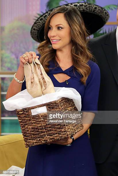 Satcha Pretto is seen on the set of Univision's Despierta America at Univision Headquarters on January 21 2014 in Miami Florida