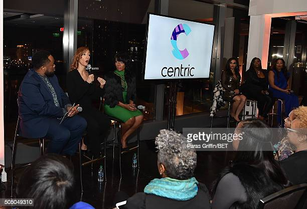 Satchel Jester Christine Beatty Stacii Jae Johnson Sara Stokes Kim Smedley and Chrystale Wilson attend From the Bottom Up presented by Centric at...