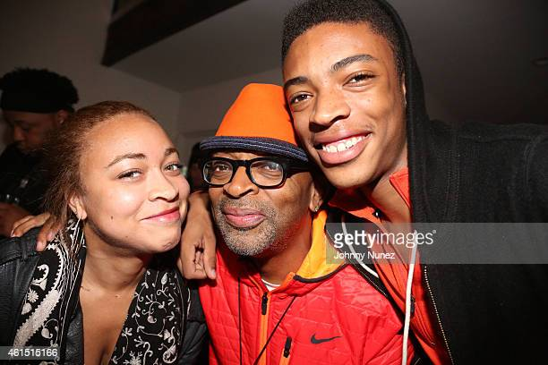 Satchel Lee Spike Lee and Jackson Lee attend Da Sweet Blood Of Jesus Soundtrack Listening Party Hosted By Spike Lee at Lightbox on January 13 2015 in...